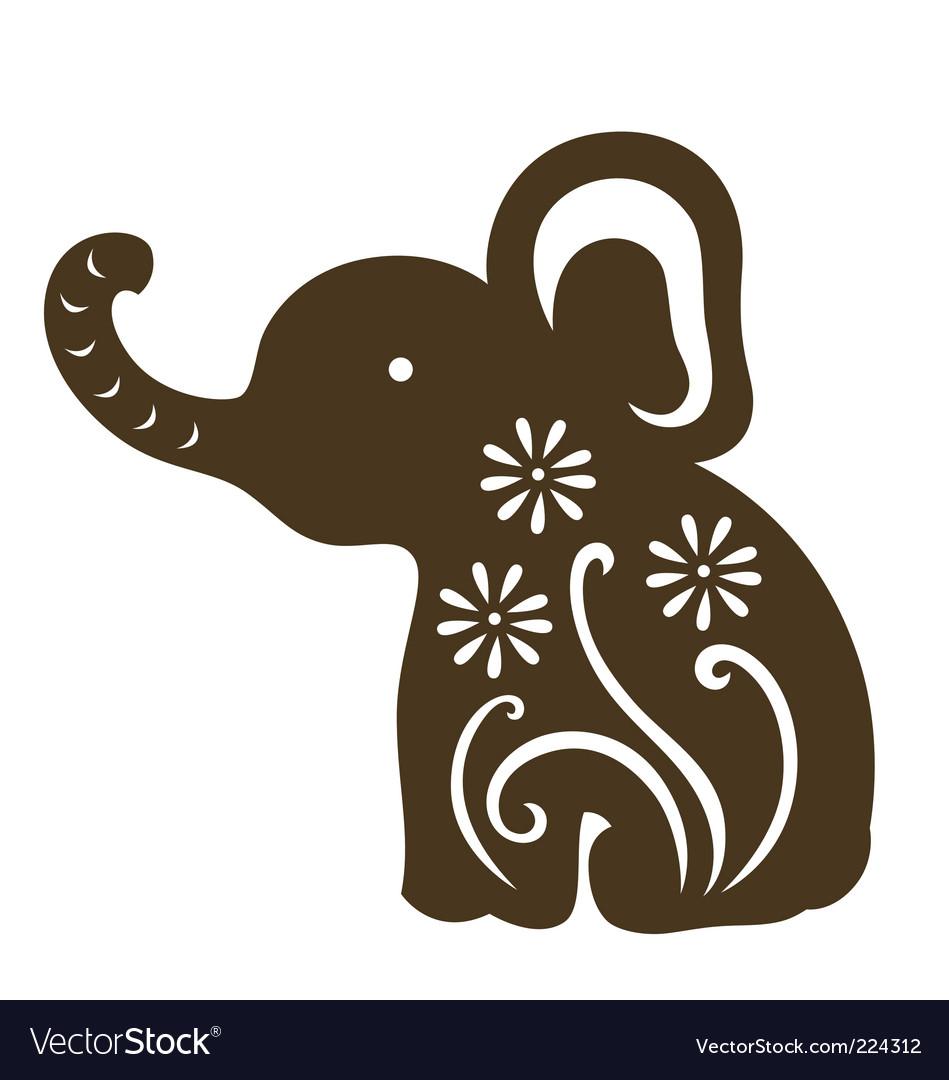 Cartoon baby elephant vector | Price: 1 Credit (USD $1)