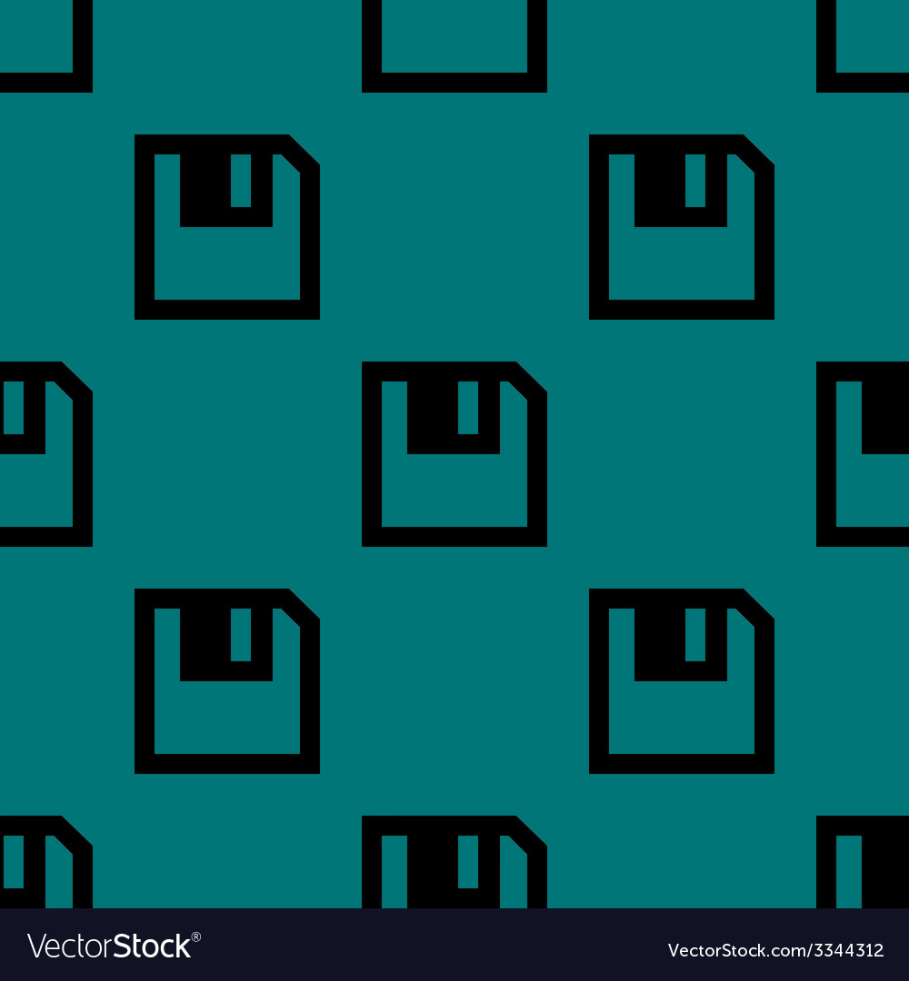 Floppy disk web icon flat design seamless pattern vector | Price: 1 Credit (USD $1)