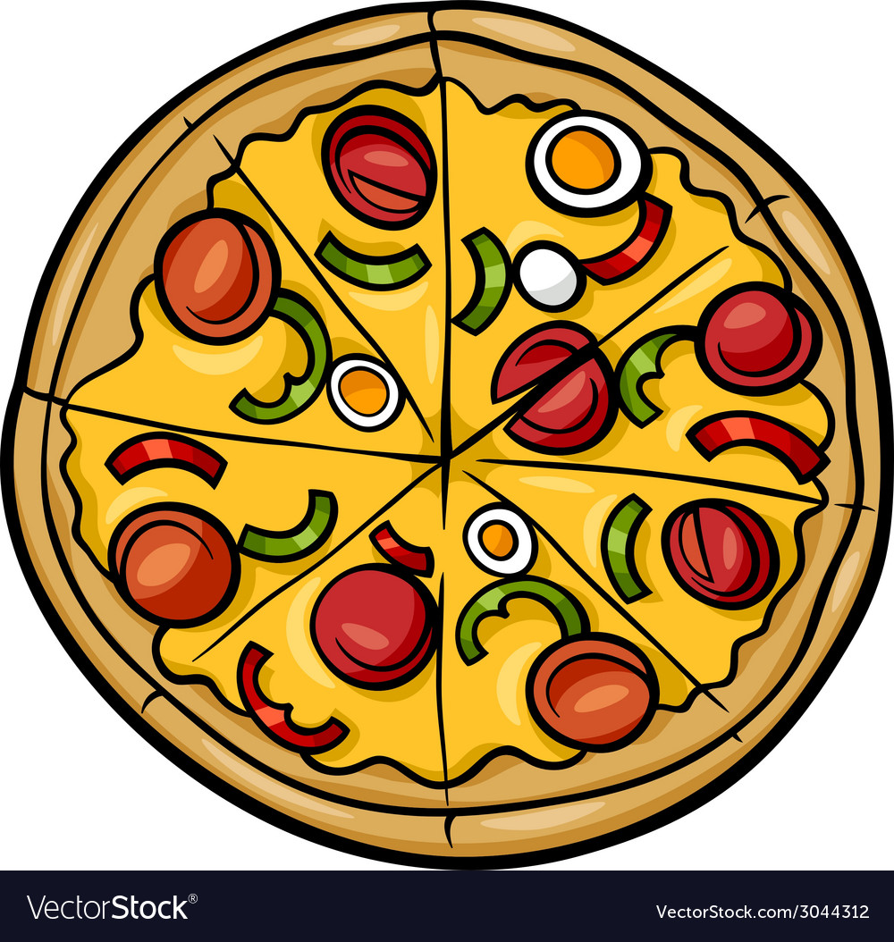 Italian pizza cartoon vector | Price: 1 Credit (USD $1)