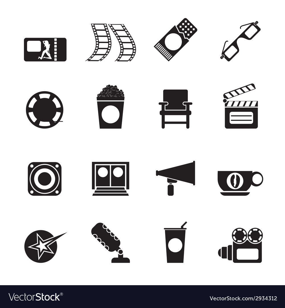 Silhouette cinema and movie vector | Price: 1 Credit (USD $1)