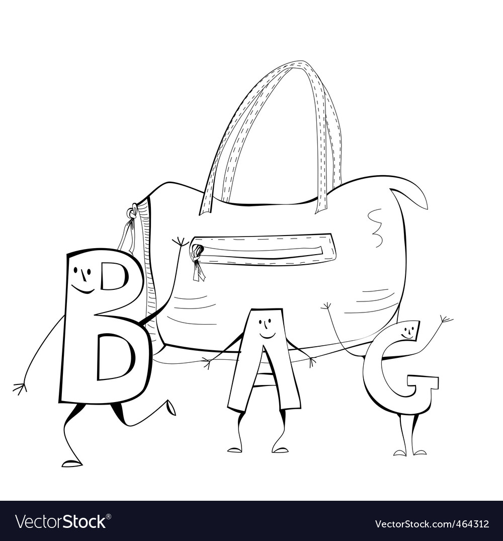 Sketch with bag vector | Price: 1 Credit (USD $1)