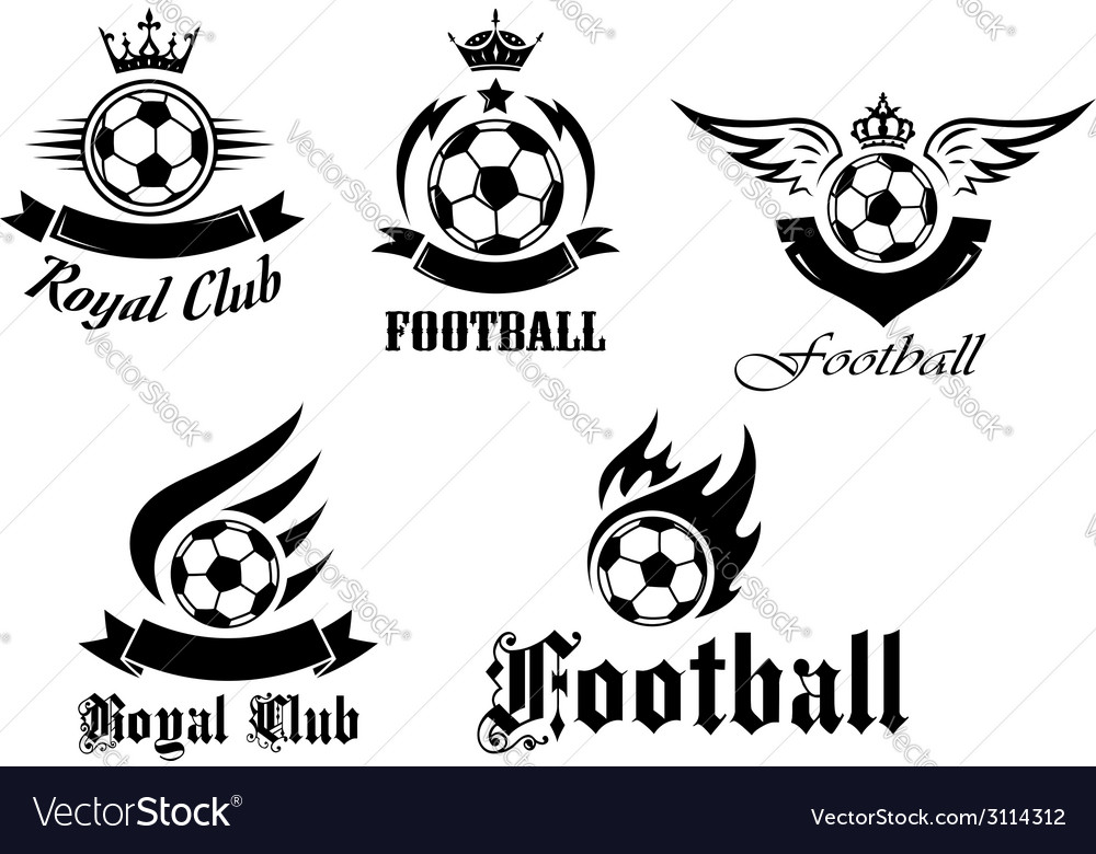 Soccer and football emblems set vector | Price: 1 Credit (USD $1)