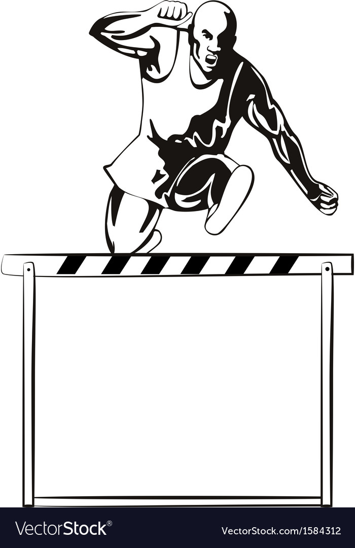 Track and field hurdle vector | Price: 1 Credit (USD $1)
