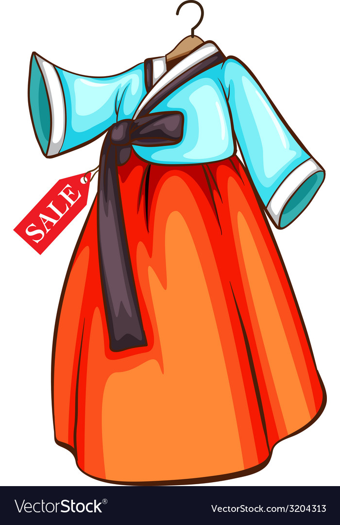 A simple drawing of a dress for sale vector | Price: 1 Credit (USD $1)