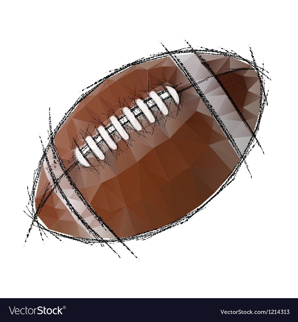 American football isolated on a white background vector | Price: 1 Credit (USD $1)