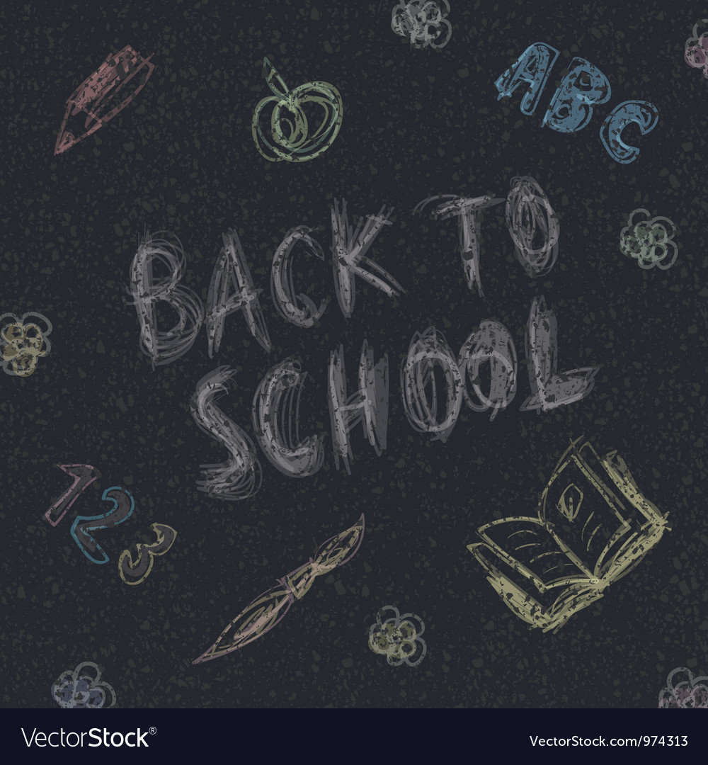 Back to school on asphalt vector   Price: 1 Credit (USD $1)