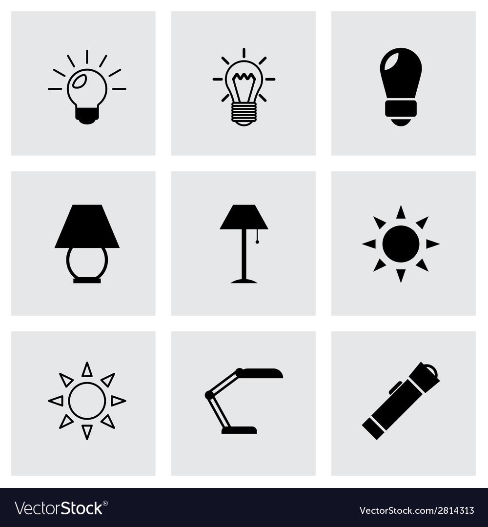 Black light icons set vector   Price: 1 Credit (USD $1)