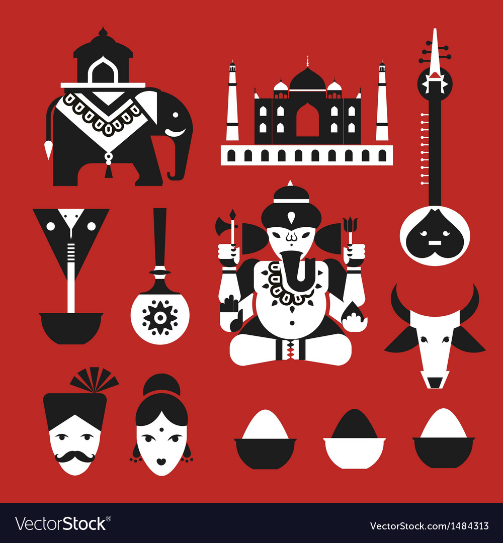 Indian icons vector   Price: 1 Credit (USD $1)