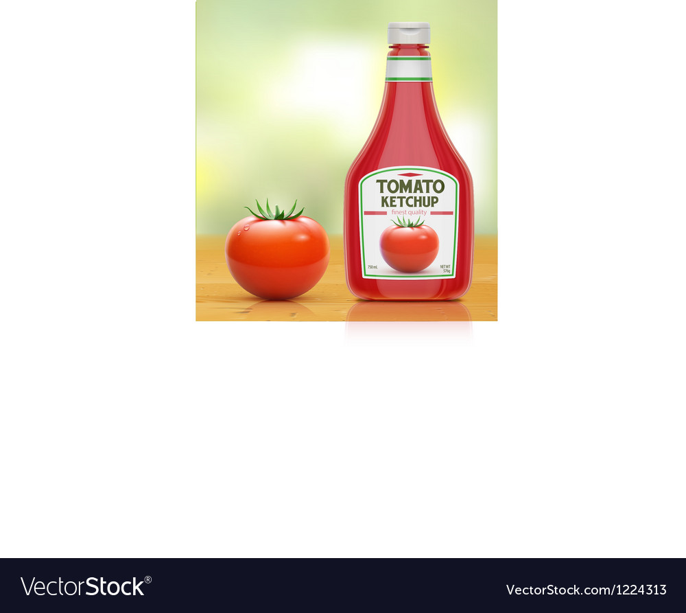 Ketchup bottle vector | Price: 3 Credit (USD $3)