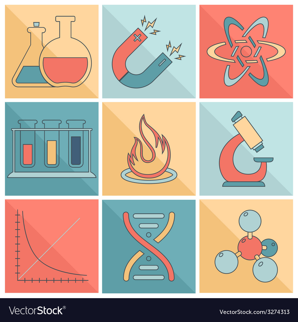 Laboratory equipment icons flat line vector | Price: 1 Credit (USD $1)