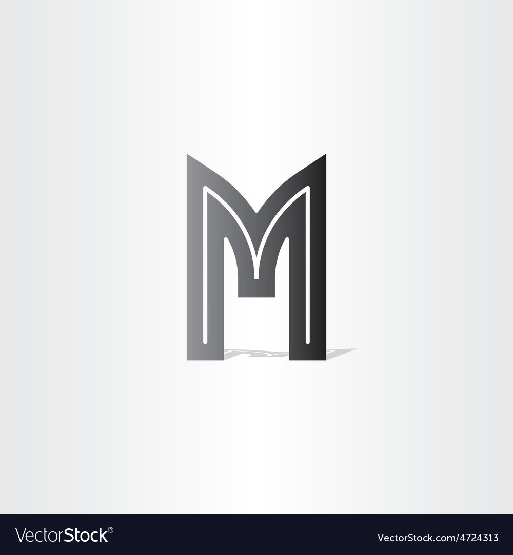 Letter m black symbol design vector | Price: 1 Credit (USD $1)