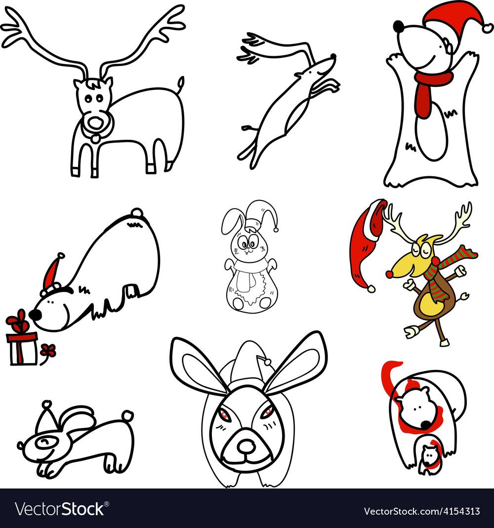 Mixed animals vector | Price: 1 Credit (USD $1)
