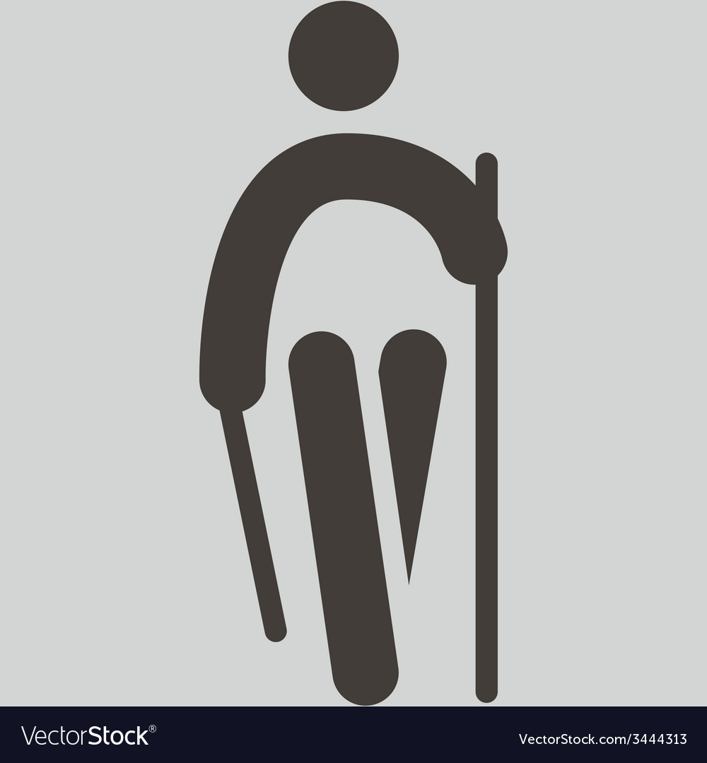 Nordic walking icon vector | Price: 1 Credit (USD $1)