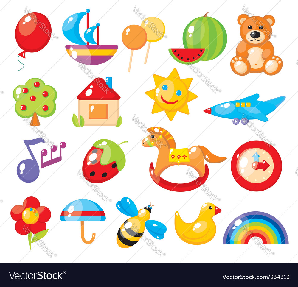 Set of colorful childrens pictures for vector | Price: 3 Credit (USD $3)