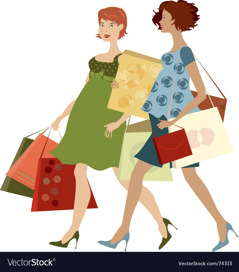Shopping women vector | Price: 3 Credit (USD $3)