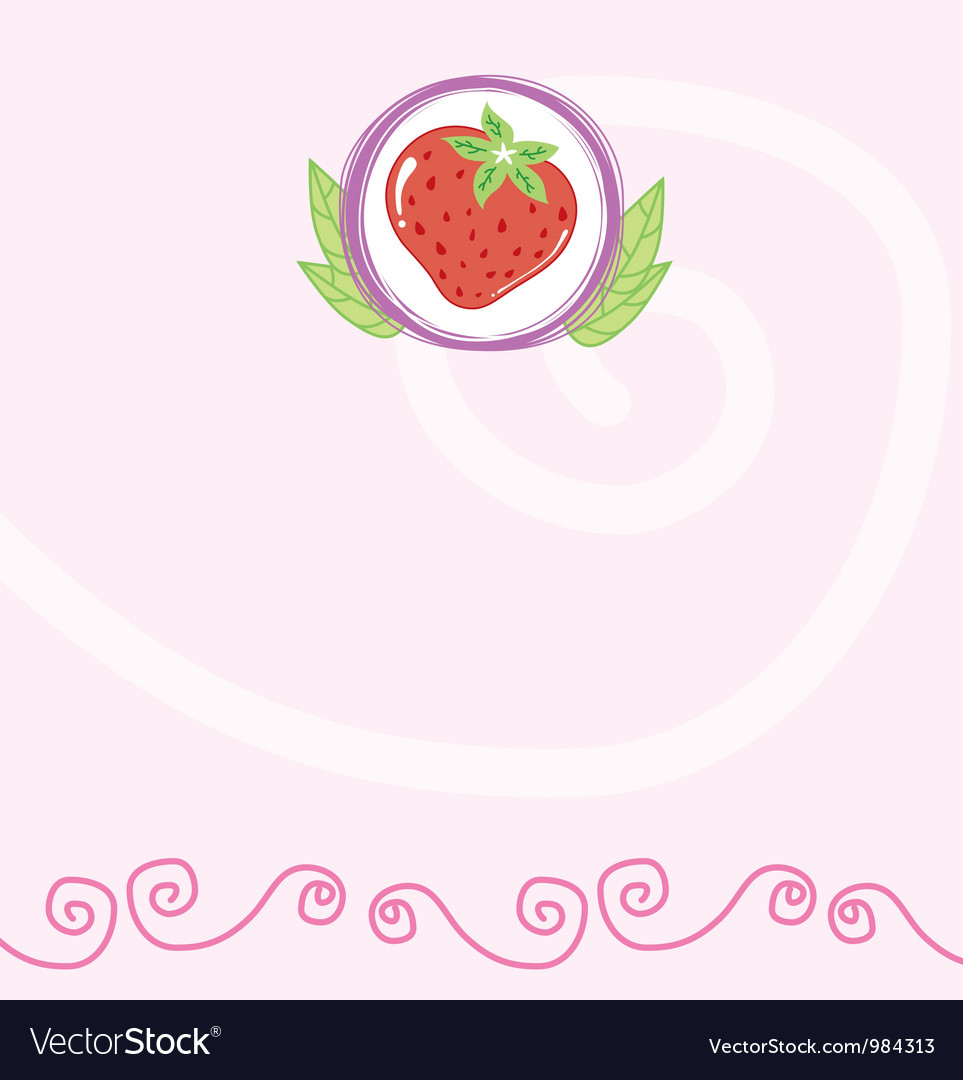 Strawberry memo vector | Price: 1 Credit (USD $1)