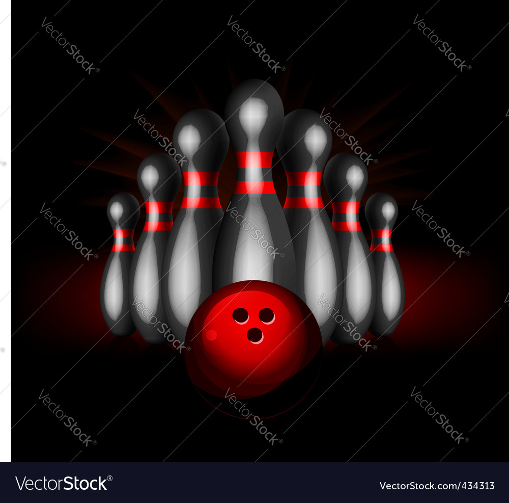 Ten pin bowling vector | Price: 1 Credit (USD $1)