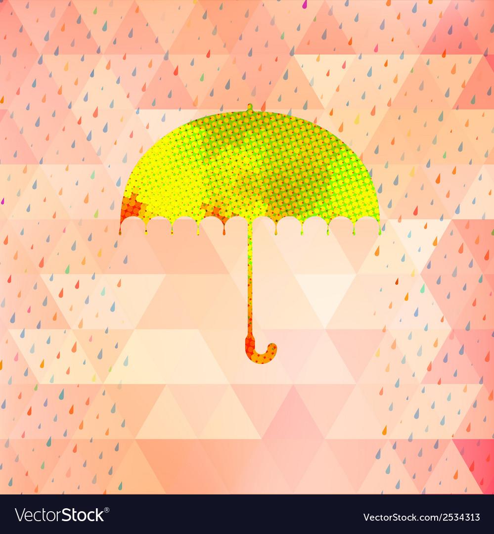 Umbrella and rain drops eps 10 vector | Price: 1 Credit (USD $1)