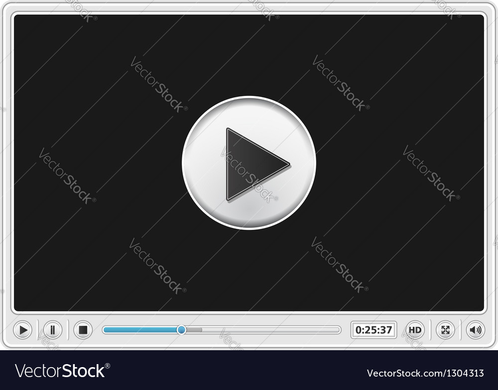 Video player template vector | Price: 3 Credit (USD $3)