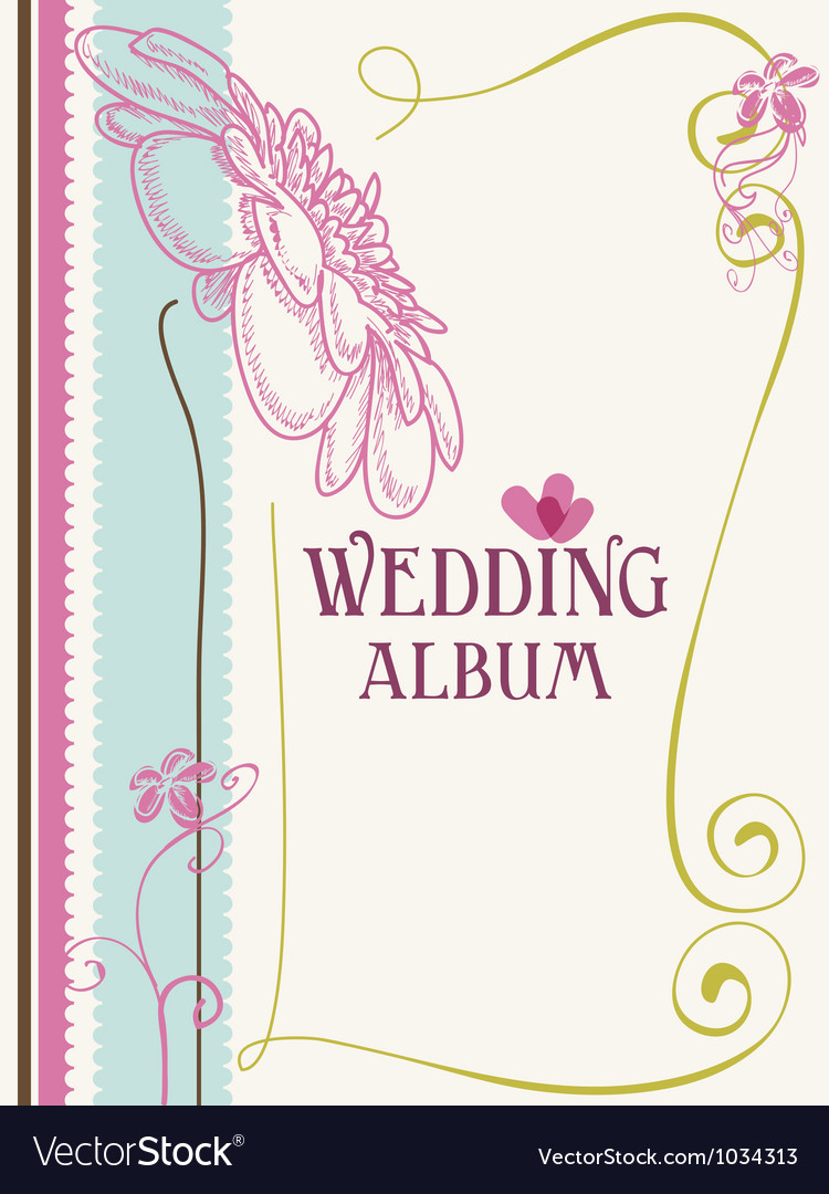 Wedding album cover vector | Price: 1 Credit (USD $1)