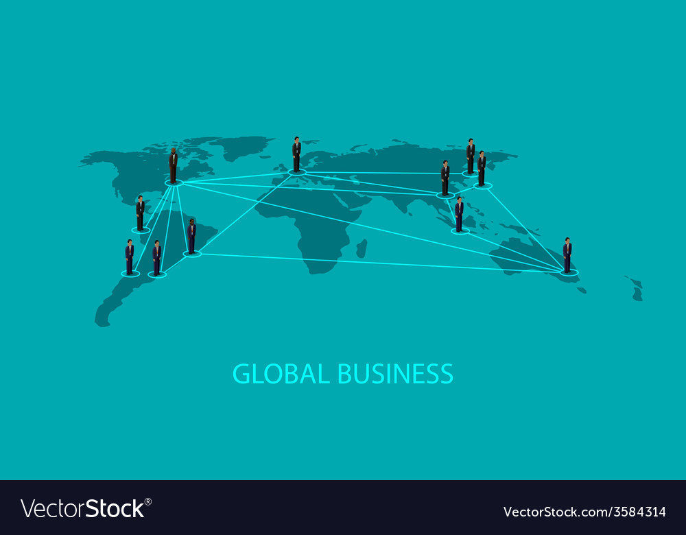 3d isometric of business people standing on the vector | Price: 1 Credit (USD $1)