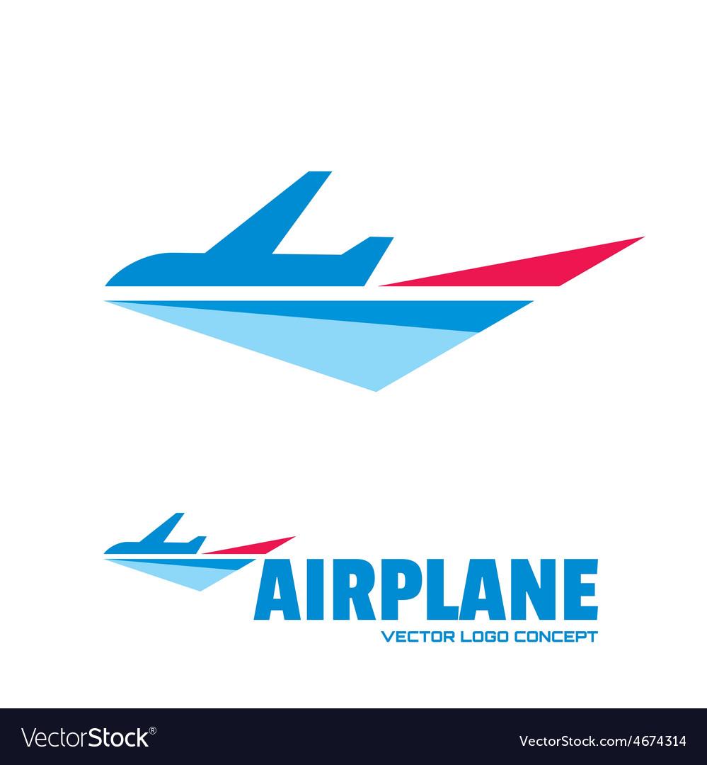 Airplane - logo concept vector | Price: 1 Credit (USD $1)