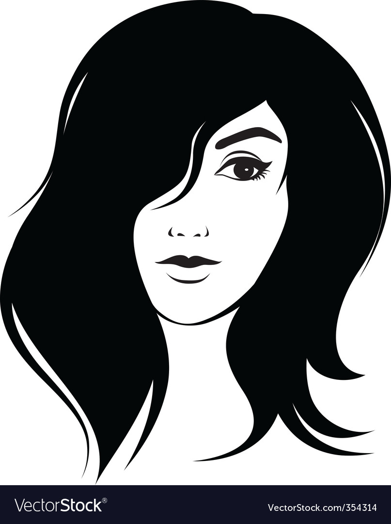 Nice girl with cute haircut vector | Price: 1 Credit (USD $1)