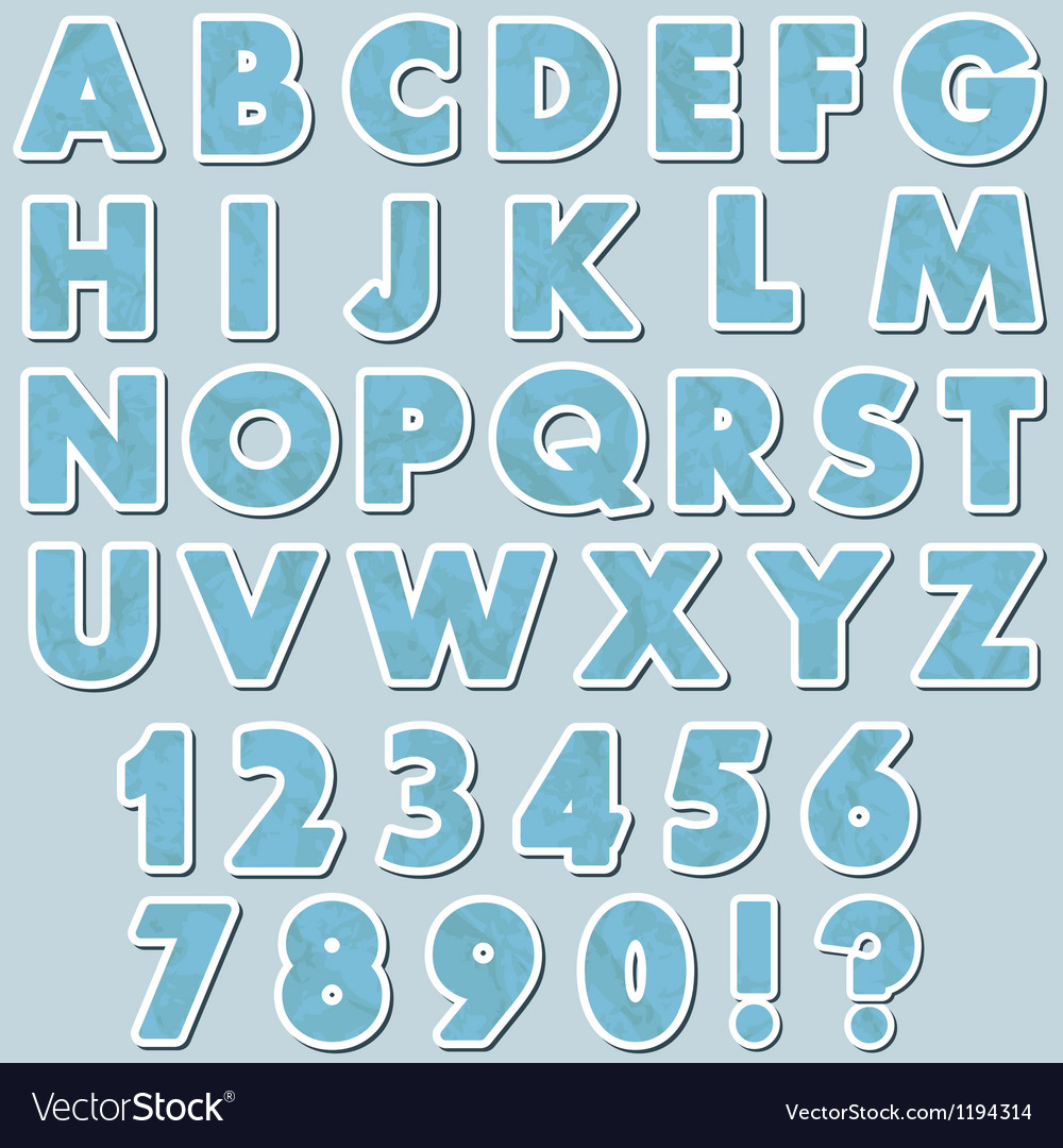 Paper alphabet vector | Price: 1 Credit (USD $1)