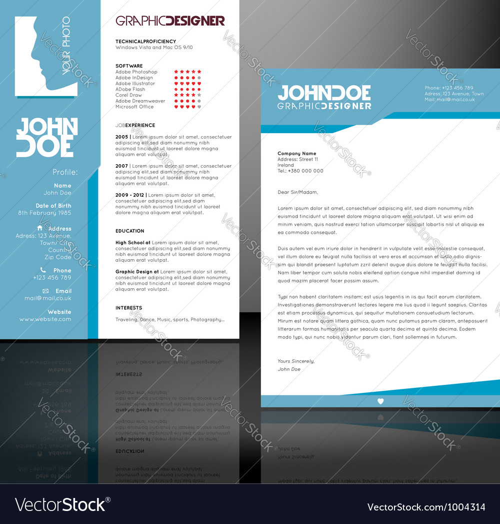 Resume - cv template vector | Price: 1 Credit (USD $1)