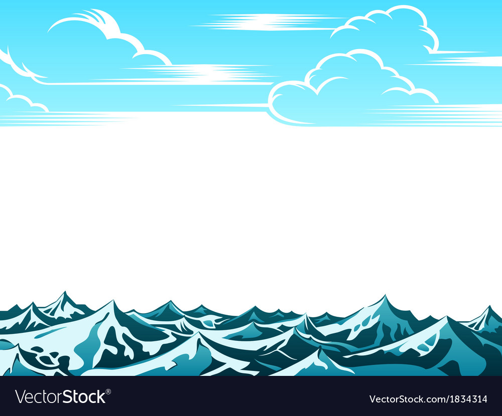 Retro ocean landscape vector | Price: 1 Credit (USD $1)