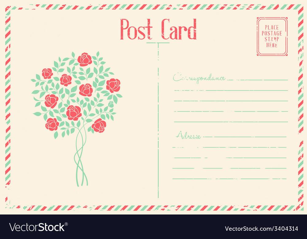Rose bush postcard vector | Price: 1 Credit (USD $1)