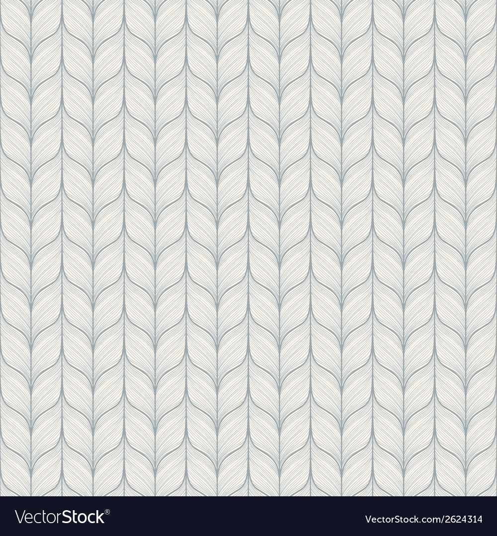 Seamless pattern with abstract hand drawn knitted vector | Price: 1 Credit (USD $1)