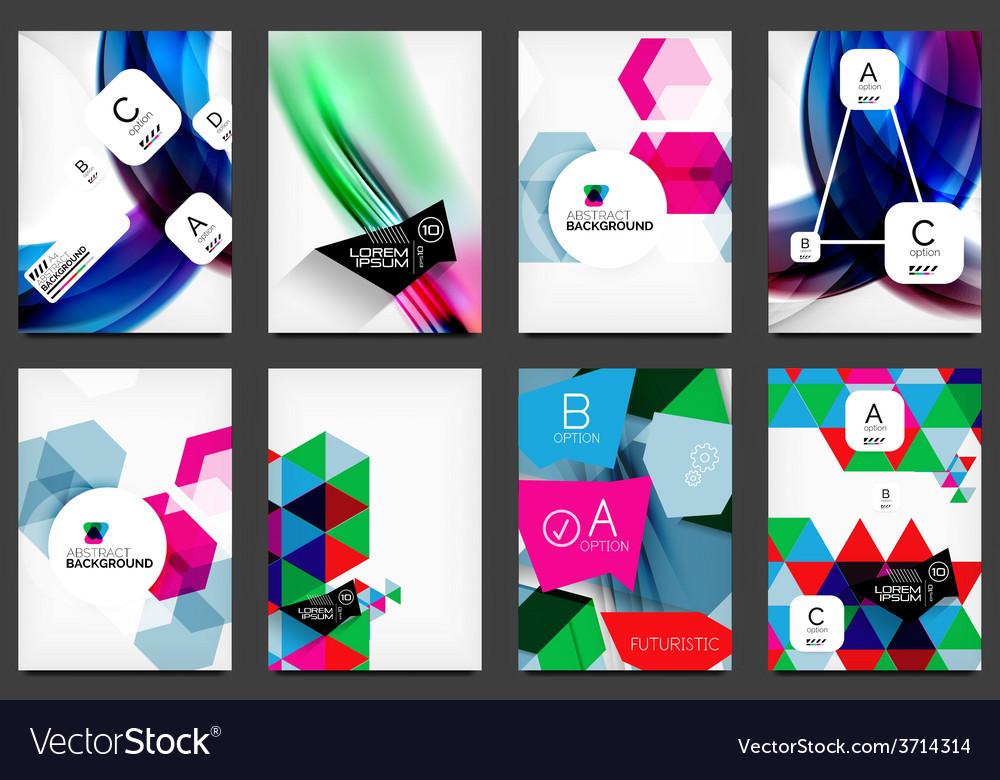 Set of modern flyers brochures vector | Price: 1 Credit (USD $1)