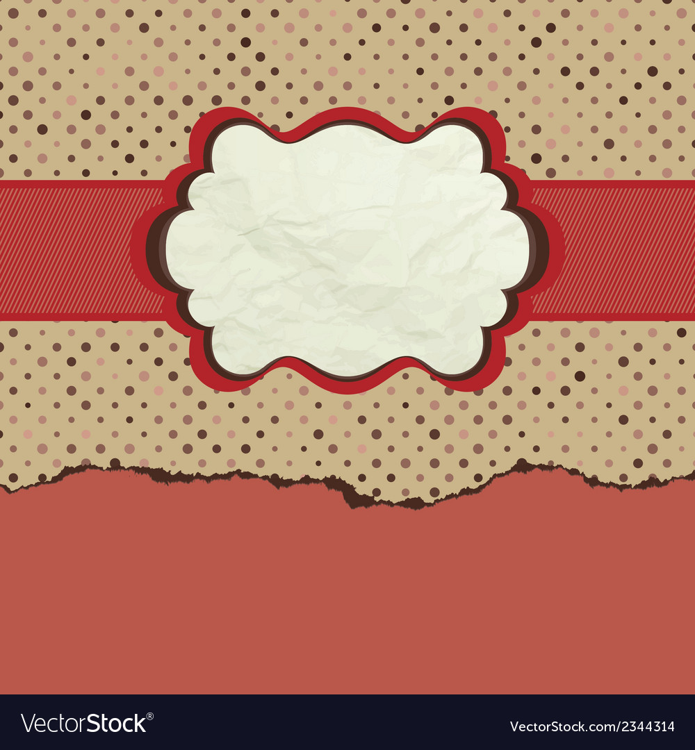 Vintage polka dot design eps 8 vector | Price: 1 Credit (USD $1)