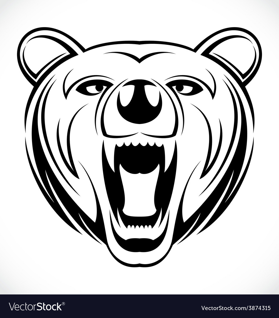 Bear head tattoo vector | Price: 1 Credit (USD $1)