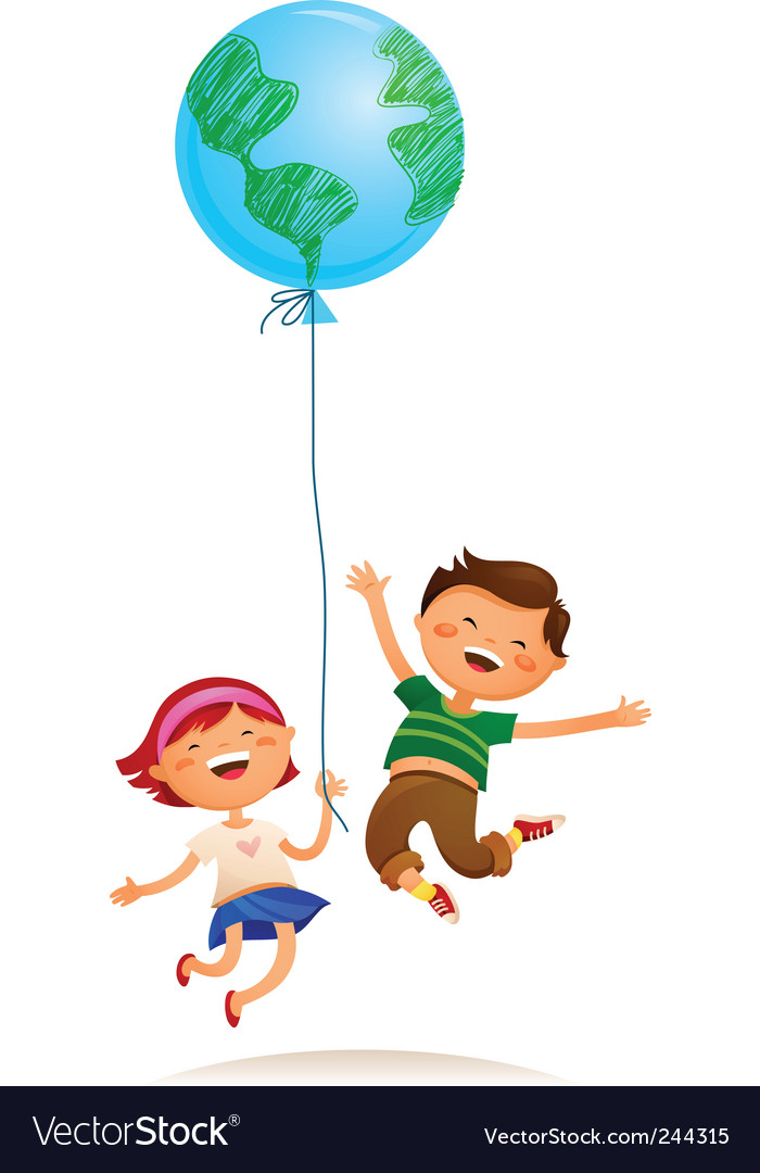 Children balloon vector | Price: 1 Credit (USD $1)