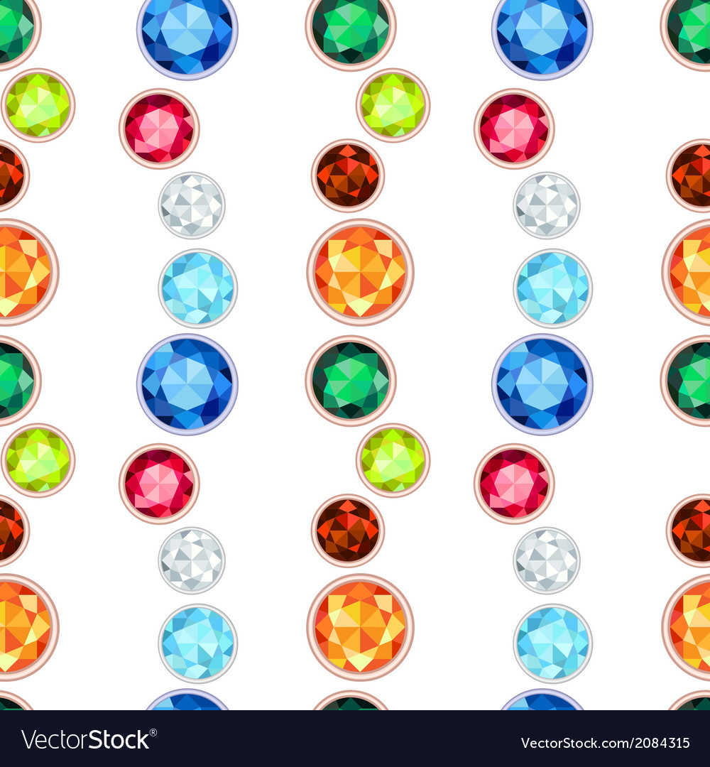 Colored gemstone seamless pattern vector | Price: 1 Credit (USD $1)