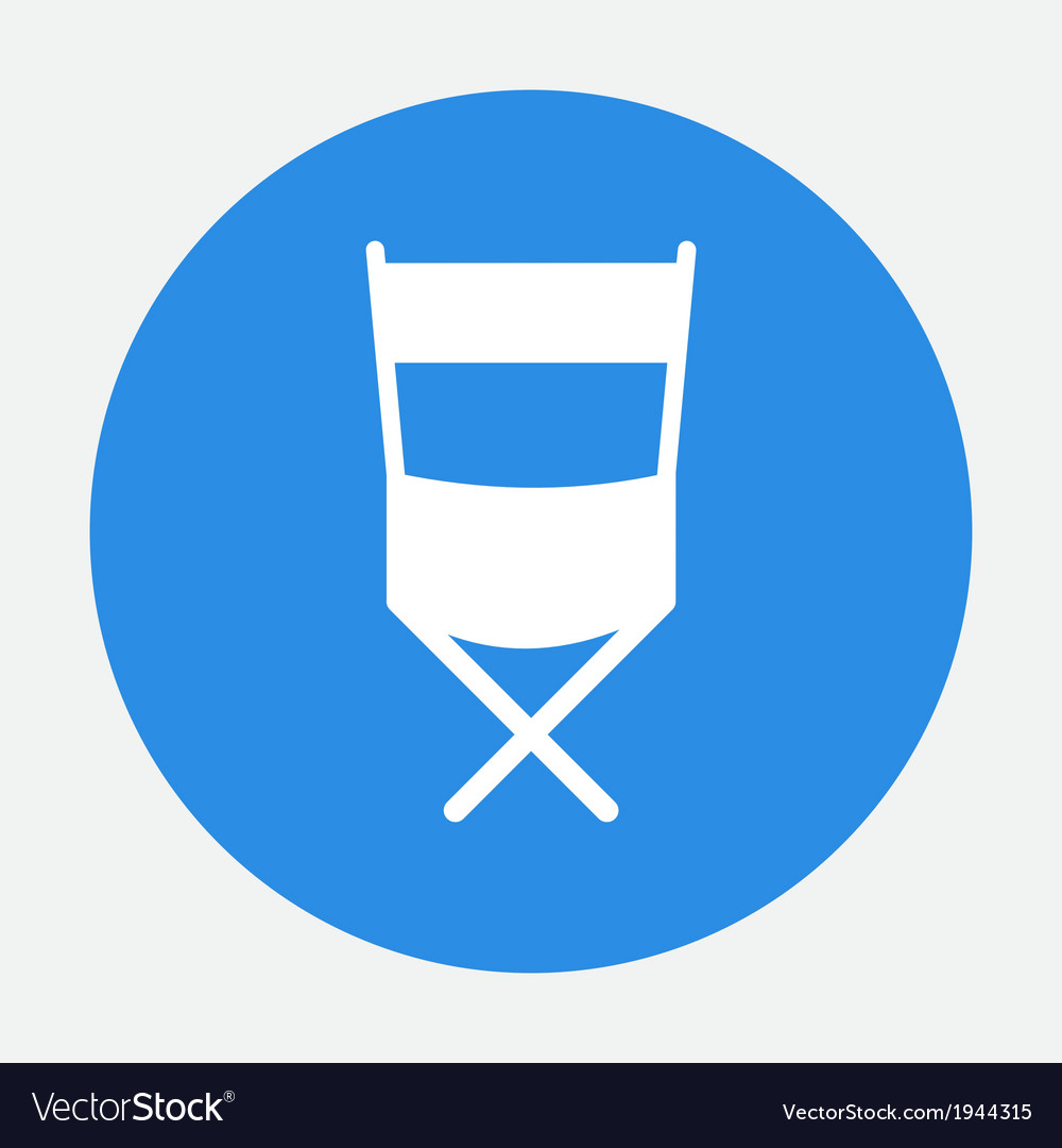 Director chair icon vector | Price: 1 Credit (USD $1)