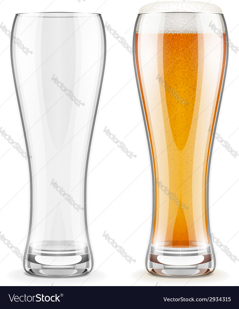 Empty transparent glasses and vector | Price: 1 Credit (USD $1)