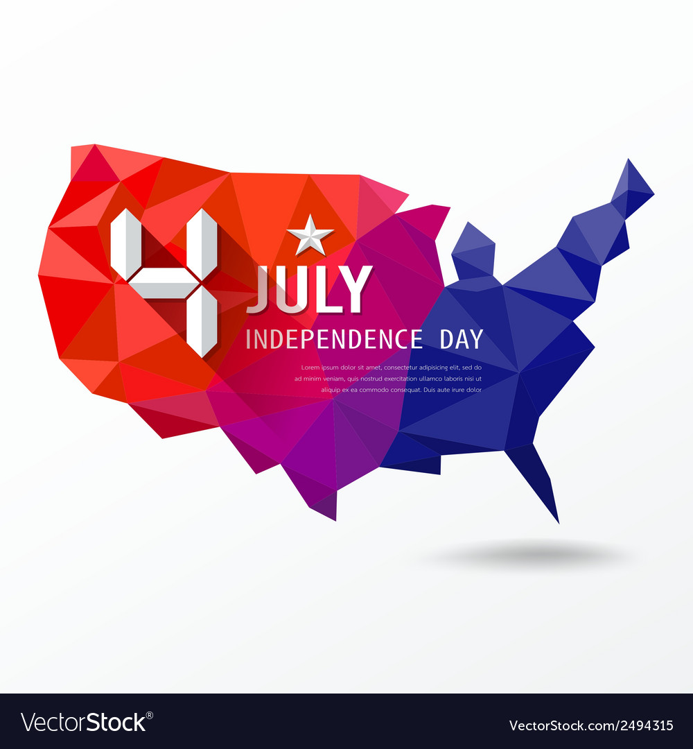 Independence day map of america geometry vector | Price: 1 Credit (USD $1)