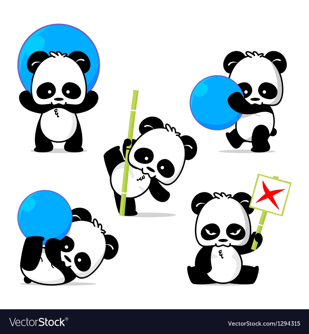 Panda style vector | Price: 3 Credit (USD $3)