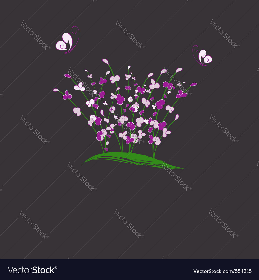Purple flower vector | Price:  Credit (USD $)