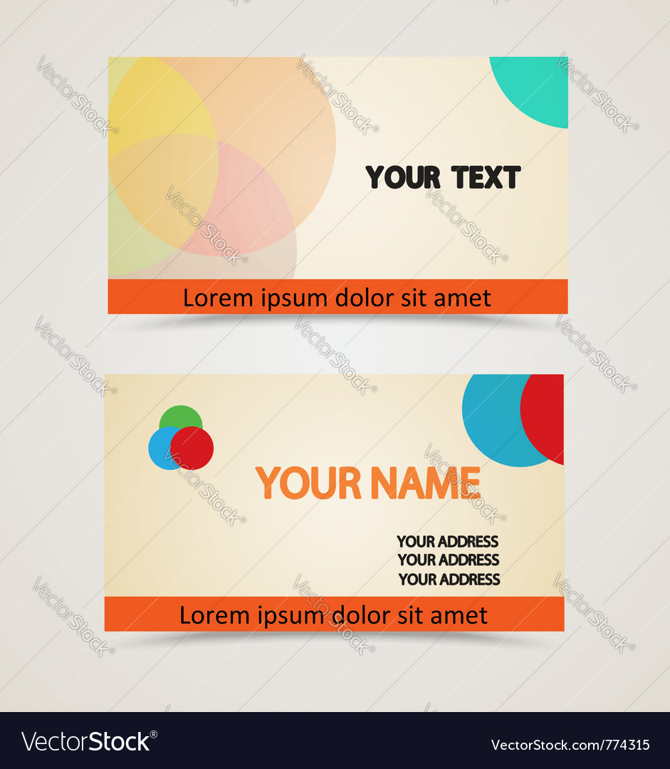 Retro vintage business card vector | Price: 1 Credit (USD $1)