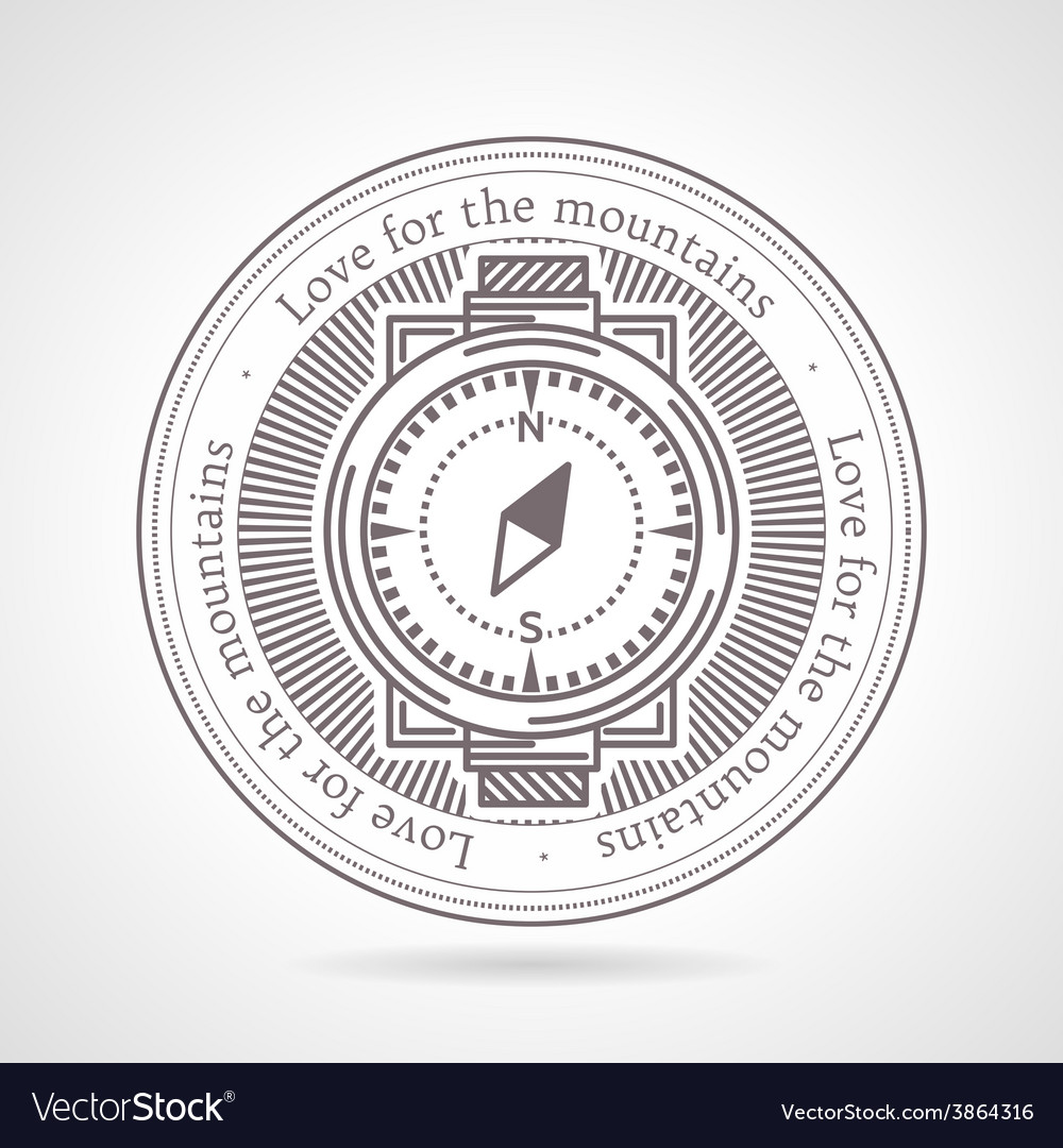 Abstract of compass icon with vector | Price: 1 Credit (USD $1)