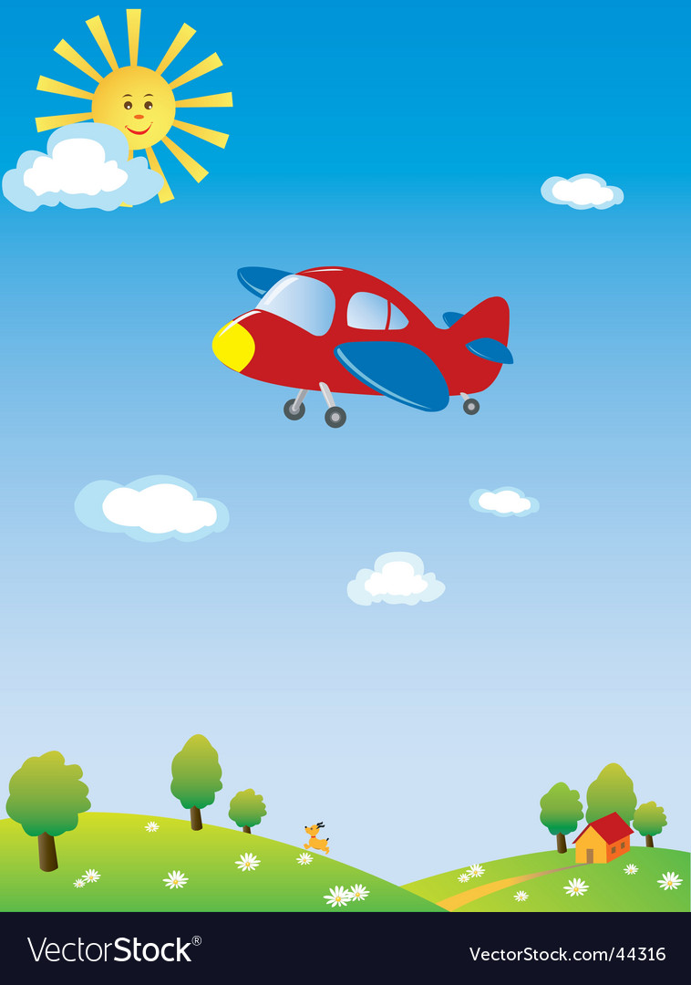 Airplane cartoon vector | Price: 1 Credit (USD $1)