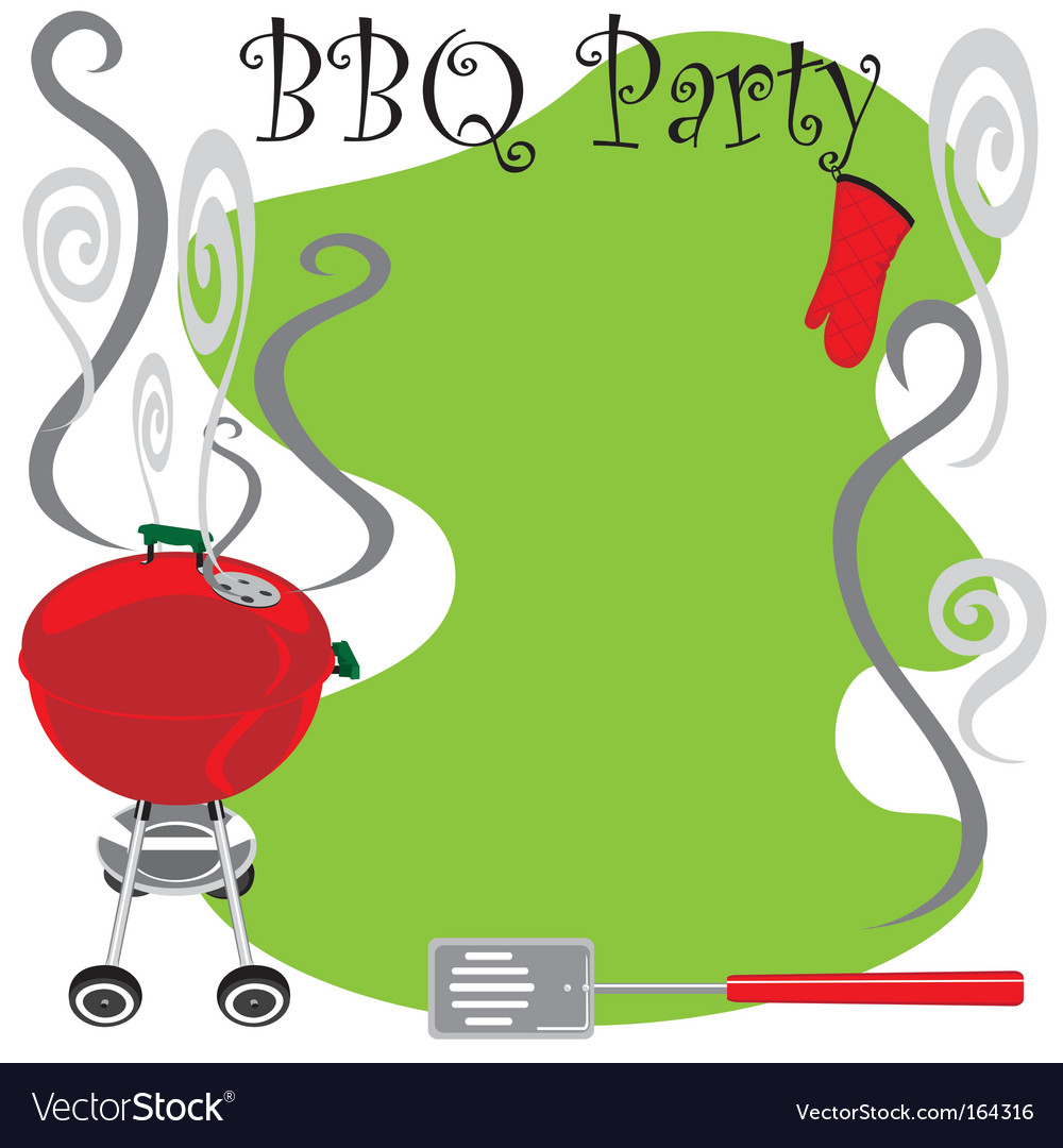 Bbq party invitation vector | Price: 1 Credit (USD $1)