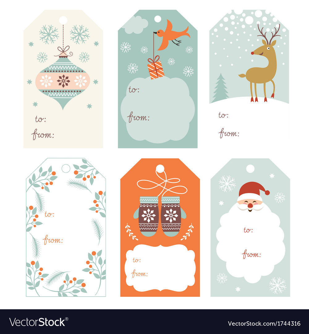 Christmas gift tags vector | Price: 1 Credit (USD $1)