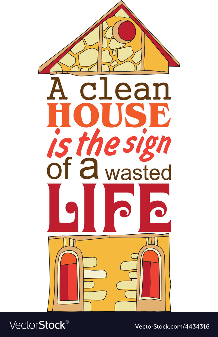Clean house vector | Price: 1 Credit (USD $1)
