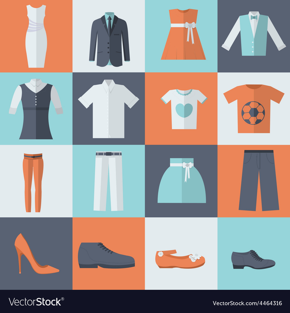 Collection style fashion clothing for people icon vector | Price: 1 Credit (USD $1)