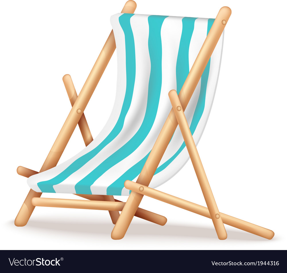 Deck chair vector | Price: 1 Credit (USD $1)